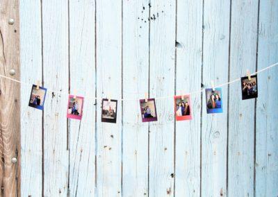 """Guirlande photo retro format """"carte de visite"""""""