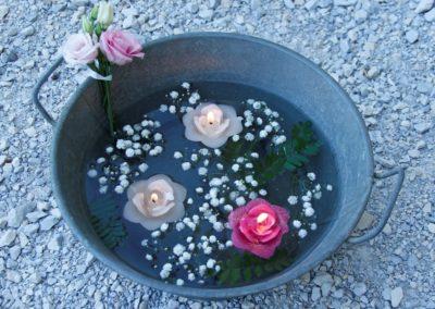 Vasque décorative champêtre