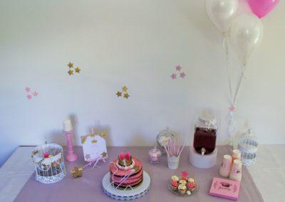 Buffet gourmand pour anniversaire thème princesse