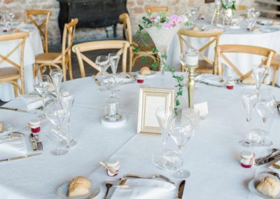 Mariage M & C, en doré et cristal, Les Domaines de Patras