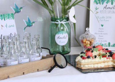 """Décoration de buffet d'anniversaire - thème """"petite exploratrice"""", Amélia 4 ans - Montélimar"""